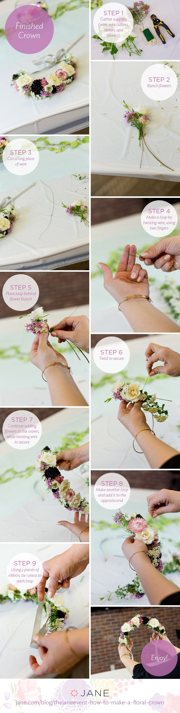 Jane.com - TheJaneEvent - How to Make a Floral Crown