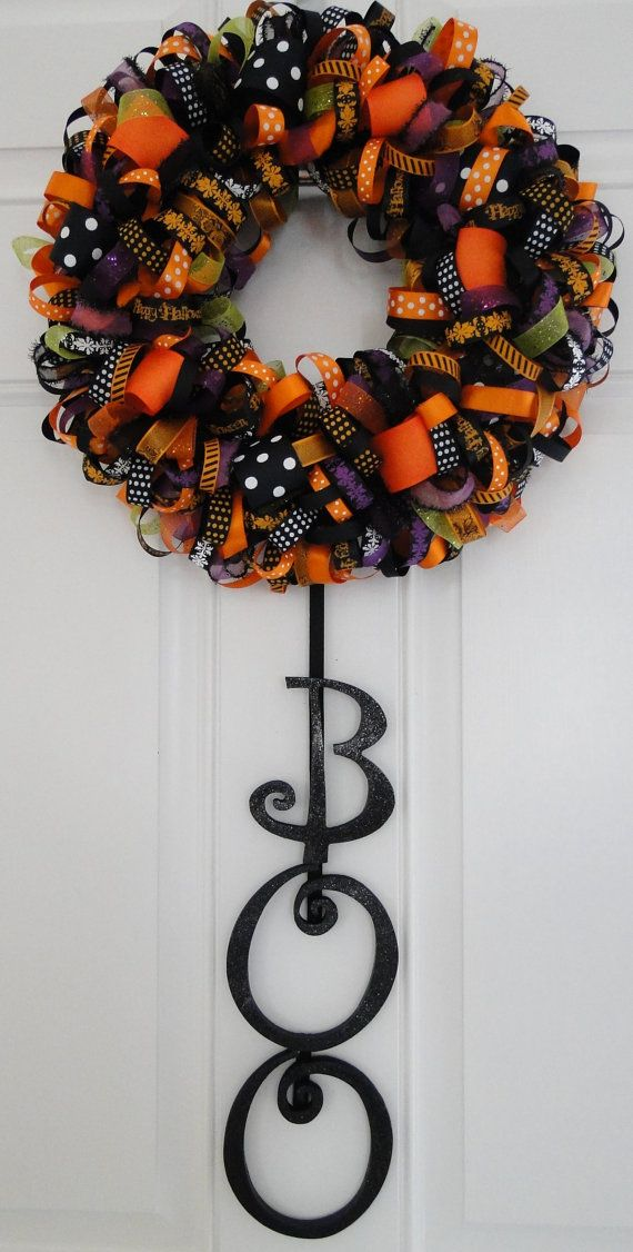 Boo ribbon wreath