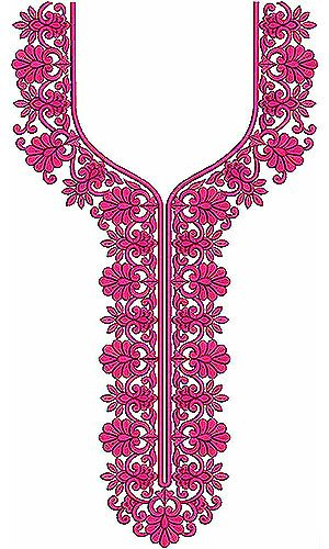 Parisian chic Fashion Embroidery Design