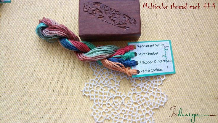 Hand painted matt cotton floss package #4 hand dyed thread for embroidery, cross stitch, punto cruz, point de croix, blackwork by xJudesign on Etsy