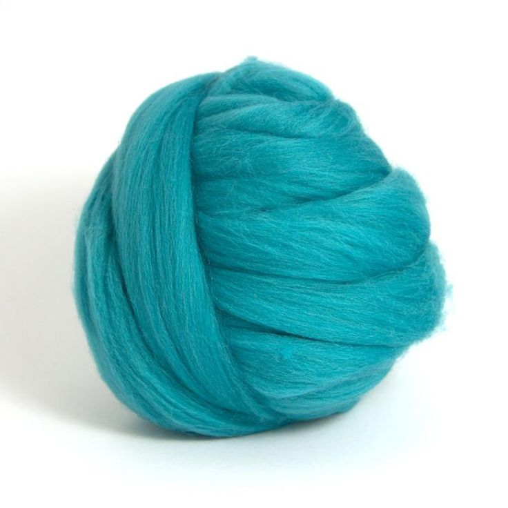 Cerulean Dyed Merino Tops