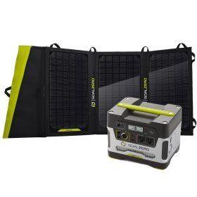Goal Zero Yeti 400 Solar Generator Kit w/Nomad 20 Solar Panel Goal Zero http://www.amazon.com/dp/B00GV3XRDW/ref=cm_sw_r_pi_dp_-Ajwvb04SWRJH