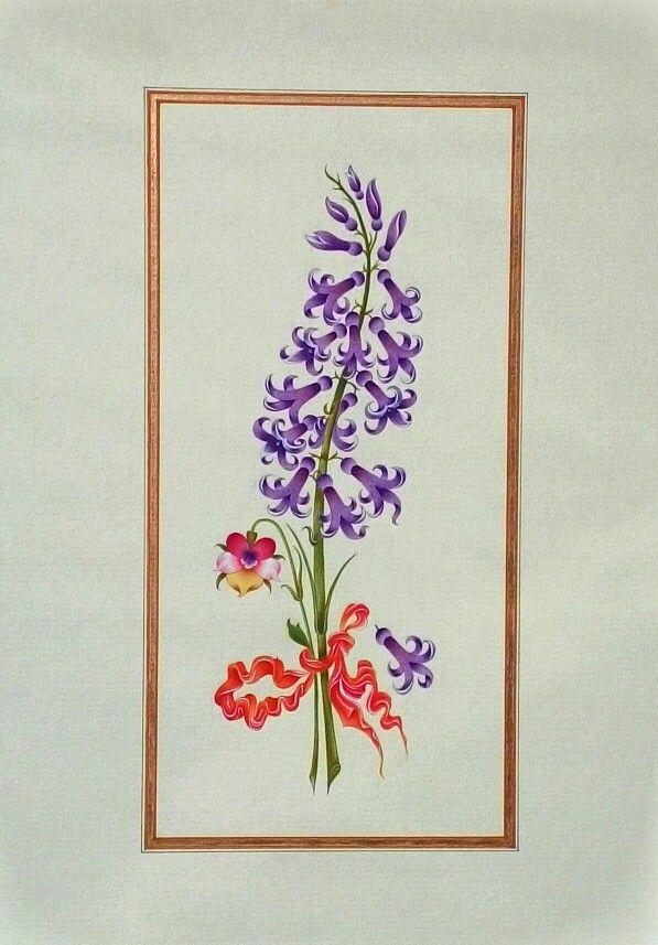 Watercolor reproduction of Ali Üsküdari's flower painting