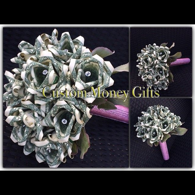 #CustomMoneyGifts #handmade #money #rose #bouquet for #wedding #engagement #birthday #graduation #MothersDay and more. Available upon request with any denomination of bills.