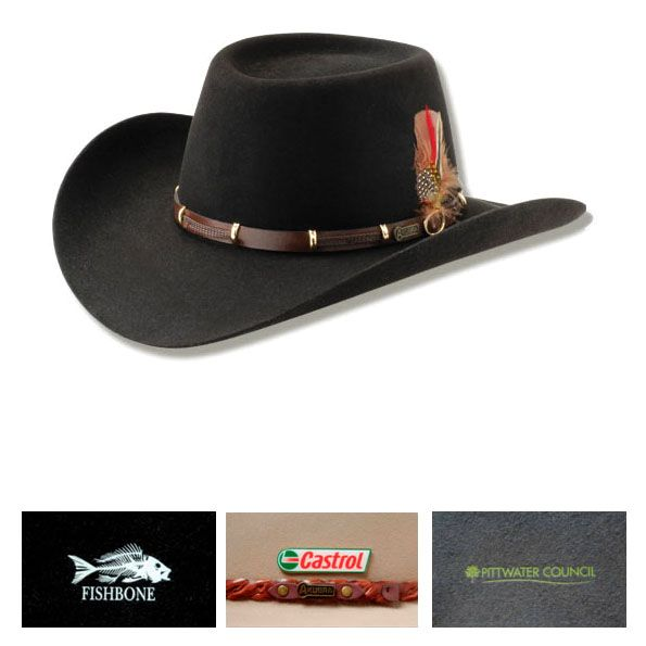 """Custom printed boss akubra hat can be customized with your logo. Let our experts design your promotional boss akubra hat at lowest price available at Vivid Promotions Australia. """"custom printed akubra hat"""" """"promotional akubra hat"""" """"printed akubra hat"""" """"Boss Akubra Hat"""" """"Vivid Promotions"""""""