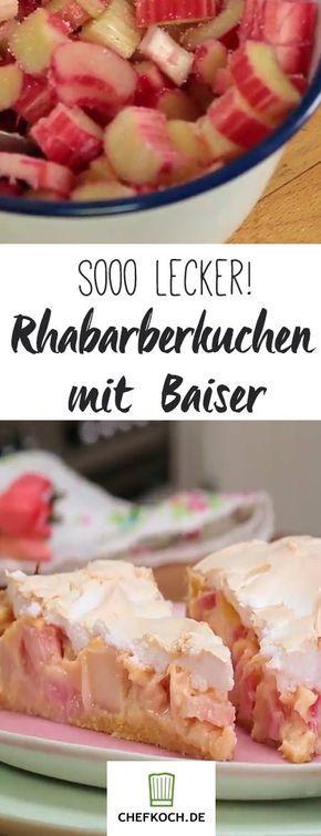 Rhabarberkuchen mit Baiser – so einfach gelingt der Frühlingskuchen