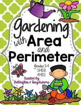 About this ProductThis product is a fun way to either introduce Area and Perimeter or as a review during the Spring months.  Of course, it could always be used at other times throughout the year.   Gardening is a wonderful way to teach area and perimeter.This Product Includes:Planning and Planting a Garden: Two story problems to introduce the activity.
