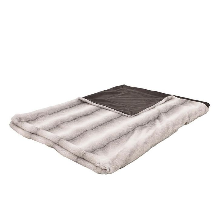 SYNTHETIC FUR THROW IN GREY COLOR 150X180 - Furs - FABRIC ITEMS