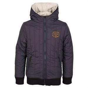 Koksgrå vendbar jakke med hætte fra Garica - drenge vinterjakke.