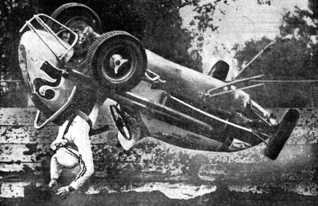 History Amazing Vintage Crash Photos Auto Racing
