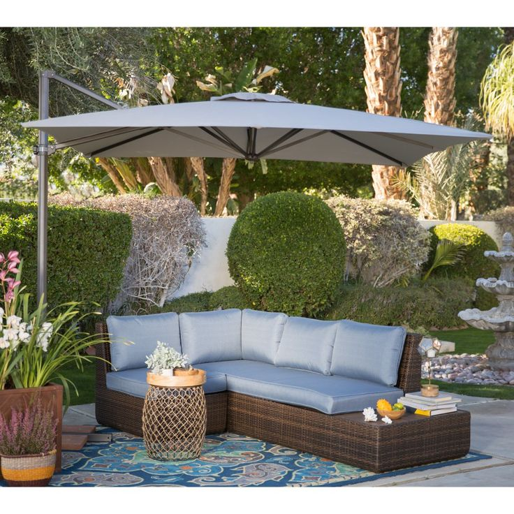 Coral Coast 8.5-ft. Square Offset Patio Umbrella - Stylish, functional, and full of great features, the Coral Coast 8.5-ft. Square Offset Patio Umbrella is a Hayneedle exclusive. Not only...