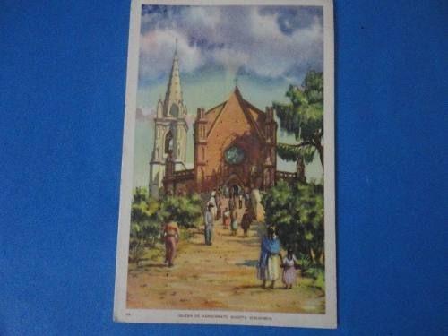 fotografia antigua postal iglesia de monserrate turismo