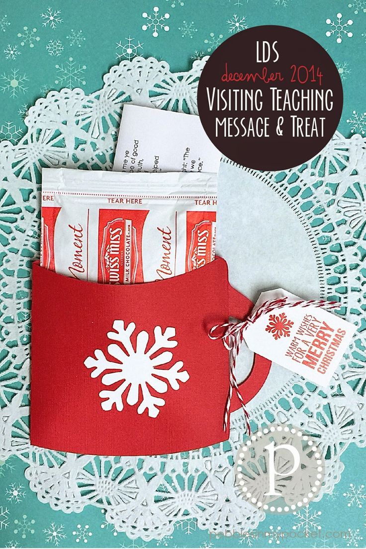 You can buy this little treat for $2.99 or try to make one yourself. Use construction paper to make a Mug Envelope. Put a packet of hot chocolate or a candy bar inside. Add a small note, poem or card and then tie on a gift tag (I like how this one looks like a tea bag)