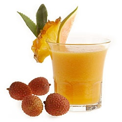 Cocktail esotico -  mango, ananas, litchi, papaia