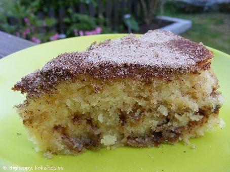 Recept - Kanelkaka med frasig topp