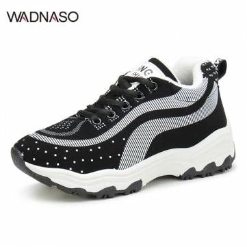 Women Casual Shoes Athletic Shook Shoes Round Toe Lace Up Shoes Soft Sole Shoes - US$28.21