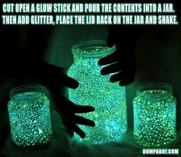 Glitter glow jars