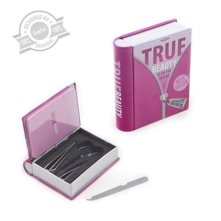 """Jak dbać o paznokcie - Zestaw do manicure dla kobiet """"True beauty"""" #paznokcie #mails #beautiful #prettywoman #książki #książka #book #books #bestsseller #frenchmanicure #manicure #pilniczek #kosmetyczka #fryzury #regulacjabrwi #lakierdopaznokci #nowość #new #awesome #gadżety #gadget #prezent #christmas #święta #dzienkobiet #kobieta #woman #balvi #onemarket.pl"""