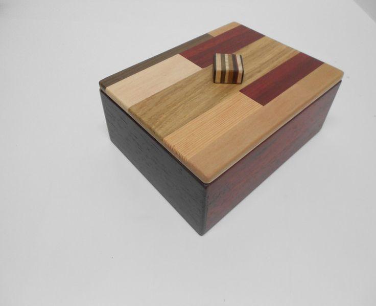 SCATOLA IN LEGNO RETTANGOLARE CON COPERCHIO  -7- di creazioniinlegnovitoluiso su DaWanda.com