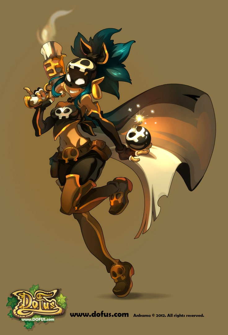 Would it be corny to call the female Rogue a bombshell? Probably... but I did it anyway. #dofus