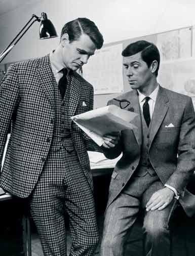 1960s Men's Fashion suits, three piece, vests.