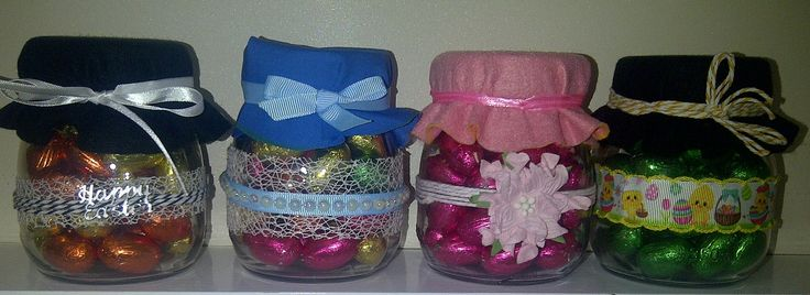Hand Crafted Easter Jar.. Easy to make and so pretty...