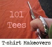 tshirt makeovers - some great ideas for those t's that go before