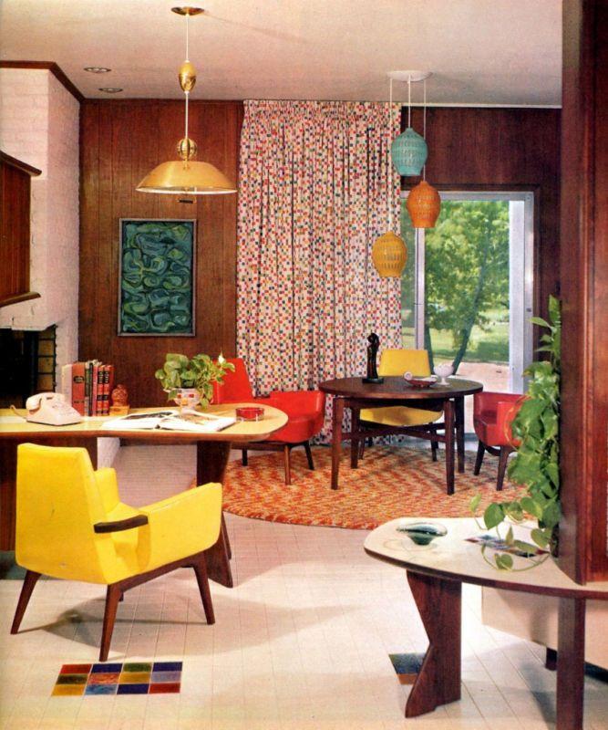 60s MID CENTURY MODERN INTERIOR DESIGN DECORATING EAMES KNOLL WORMLEY  BALDWIN ++