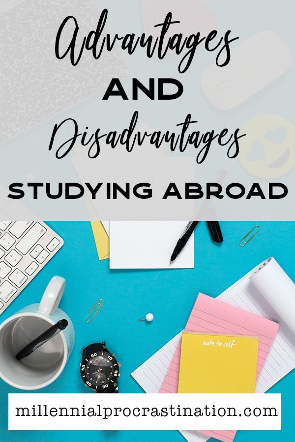 pros and cons of studying abroad