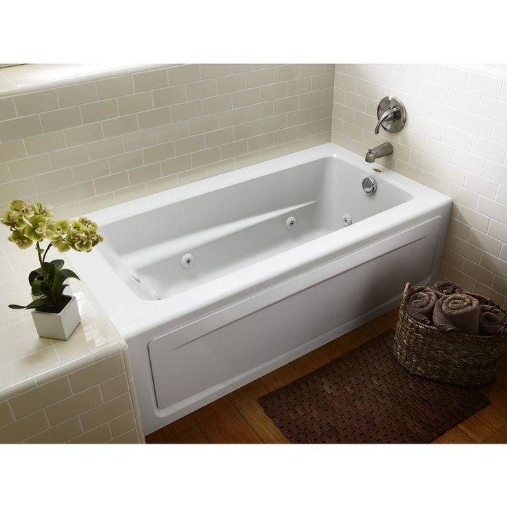 Jacuzzi Primo White Acrylic Rectangular Whirlpool Tub Common 32 In X 60 In