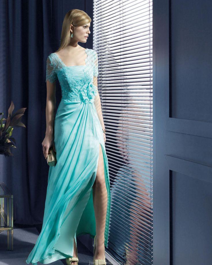 unique green evening dress 2014