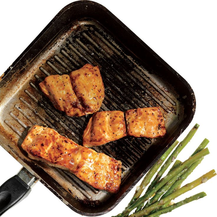 Honey-Mustard Salmon with Roasted Asparagus. Get those healthy omega-3s!