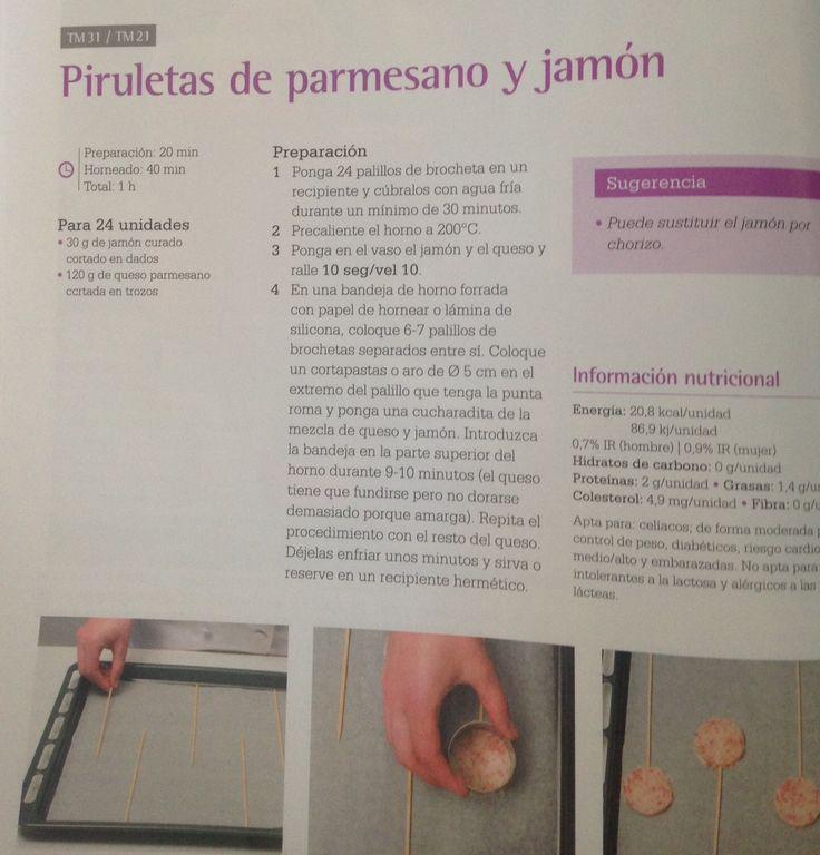 Piruletas De Parmesano Y Jamon Piruletas Jamon Curado Brochetas
