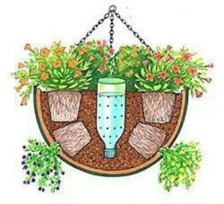 A great way to water hanging baskets.