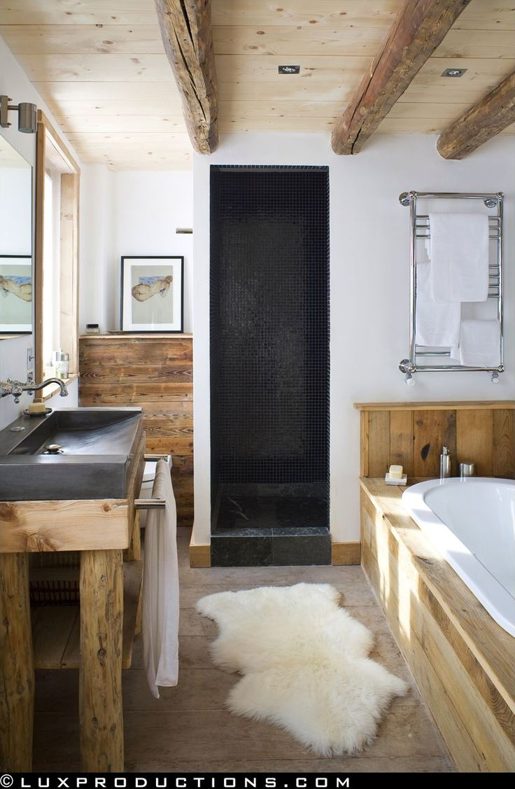 rustic modern bathroom designs