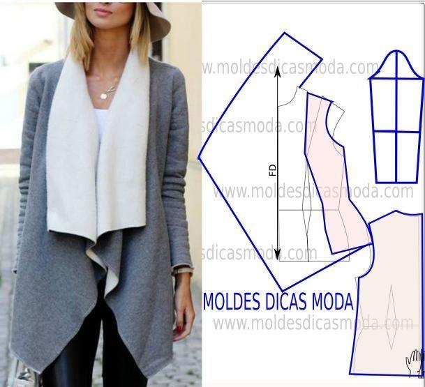 Mejores 18 imágenes de abrigos y ponchos en Pinterest | Patrones de ...