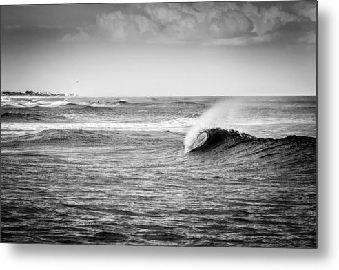 48x32Long Island Wave Metal Print By Ryan Moore
