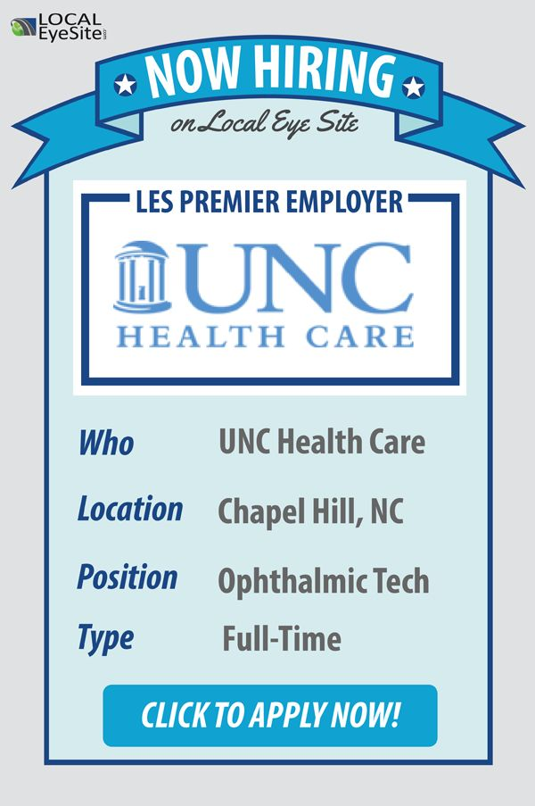 Now Hiring: UNC Health Care!  Full-Time #Ophthalmic Tech Needed in Chapel Hill, NC. Click to Apply Now!