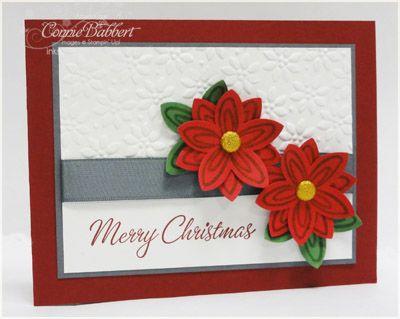Punch art poinsettiasChristmas Flower, Christmas Cards, Stampin Up, Poinsettia Cards, Cards Tags, Cards Cards, Punch Cards