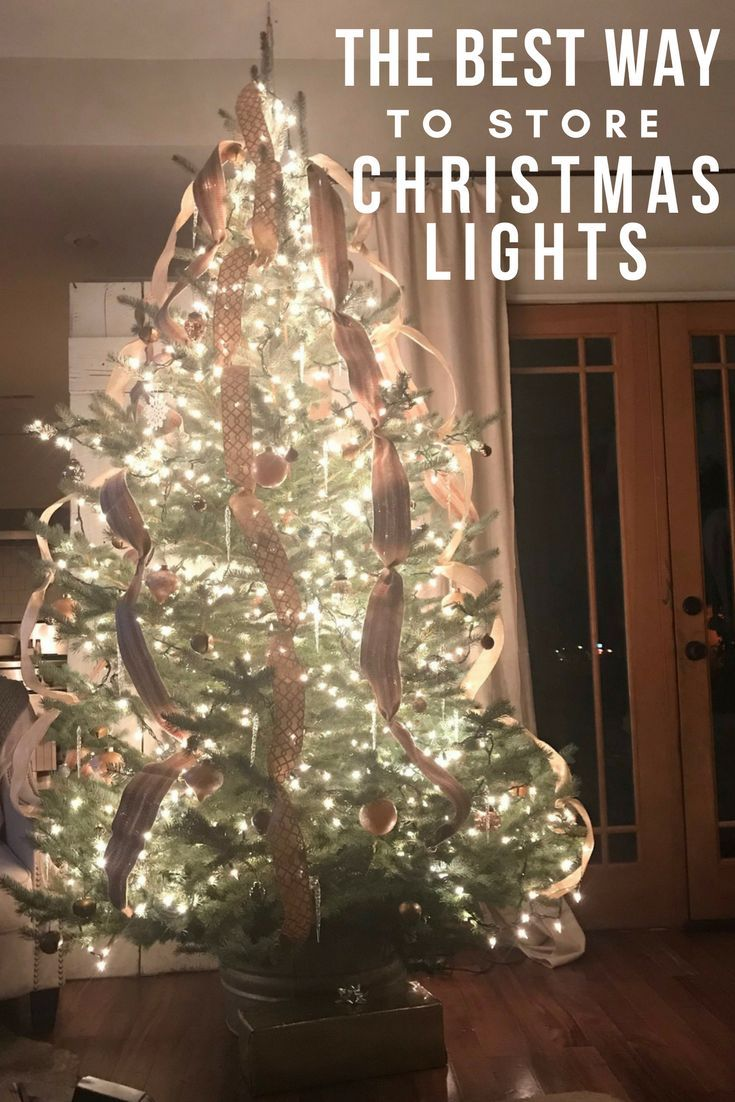 This is the best way to store those Christmas lights!  No more tangled messes, and you  only need one item that most of us have in our kitchen!