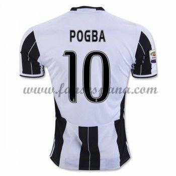 Camisetas De Futbol Juventus Pogba 10 Primera Equipación 2016-17