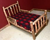 Cedar Log Toddler Bed With side Rails