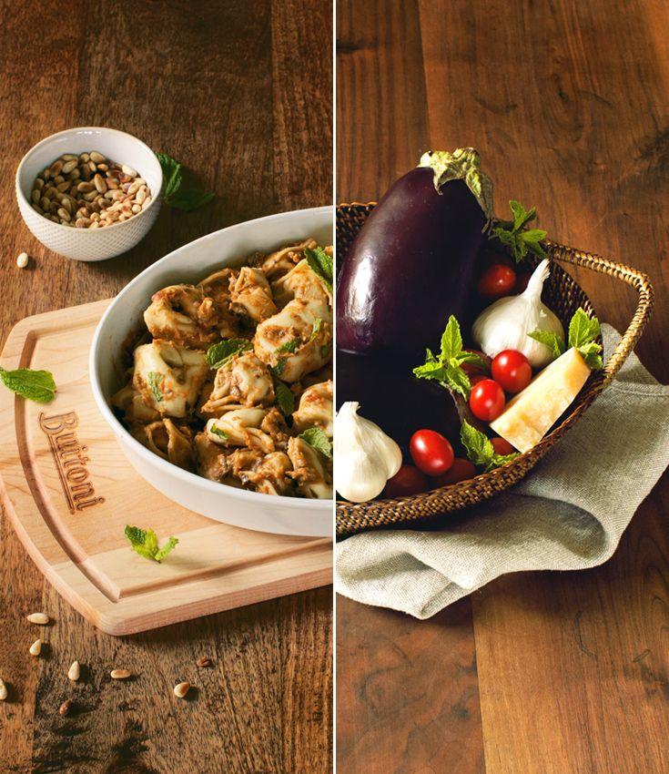 kitchen boss eggplant caponata%0A Tortelloni with Roasted Eggplant  u     Cherry Tomato Sauce