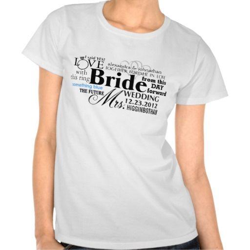 Bride Word Cloud Tshirts