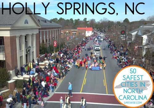 Holly Springs is the second safest city in North Carolina