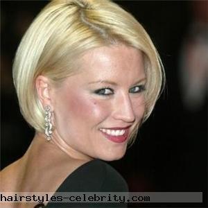 Denise Van Outen asymmetrical bob - formal