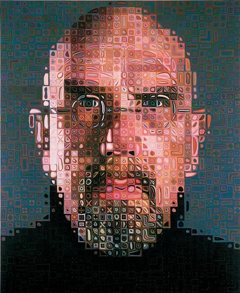 Chuck Close, Self Porttrait, 2004-2005. Photo: Chuck Close: Self-Portraits 1967-2005, Walker Art Center
