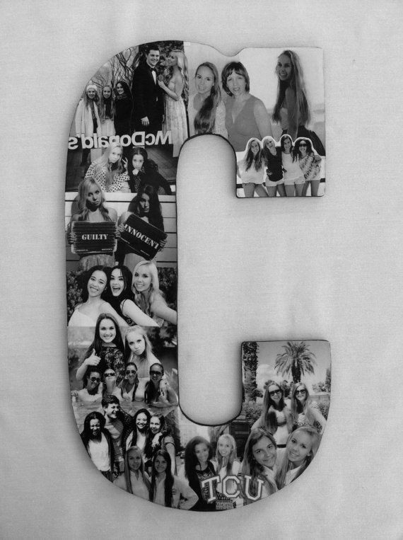 Custom photo collage letter girlfriend gift college for Shoulder decoration 9 letters