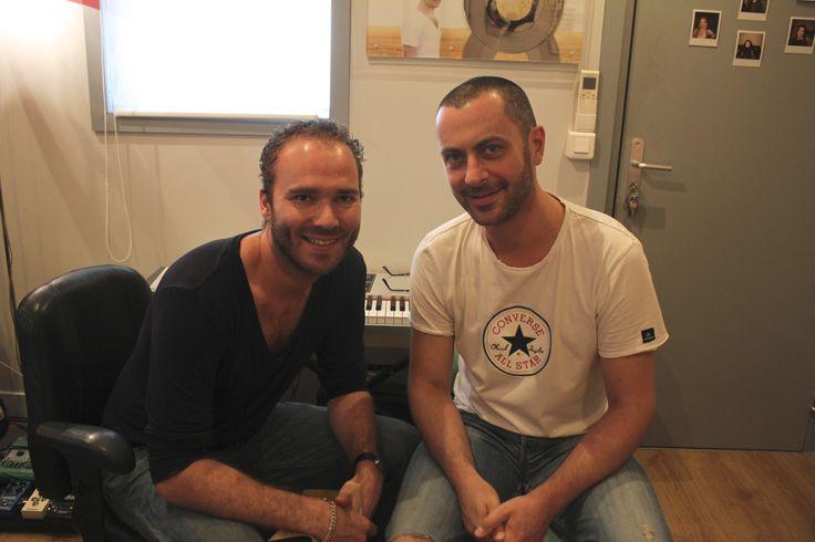 Avec Vincent Bidal (Pianiste de Christophe Maé) qui m'a fait l'honneur de jouer sur mon album !