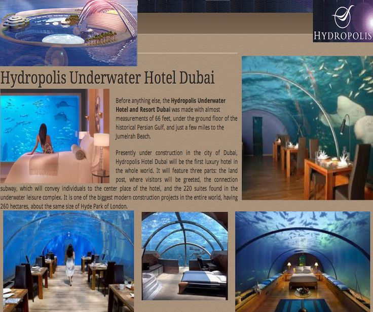 Hydropolis Underwater Hotel Dubai Luxury Travel Items